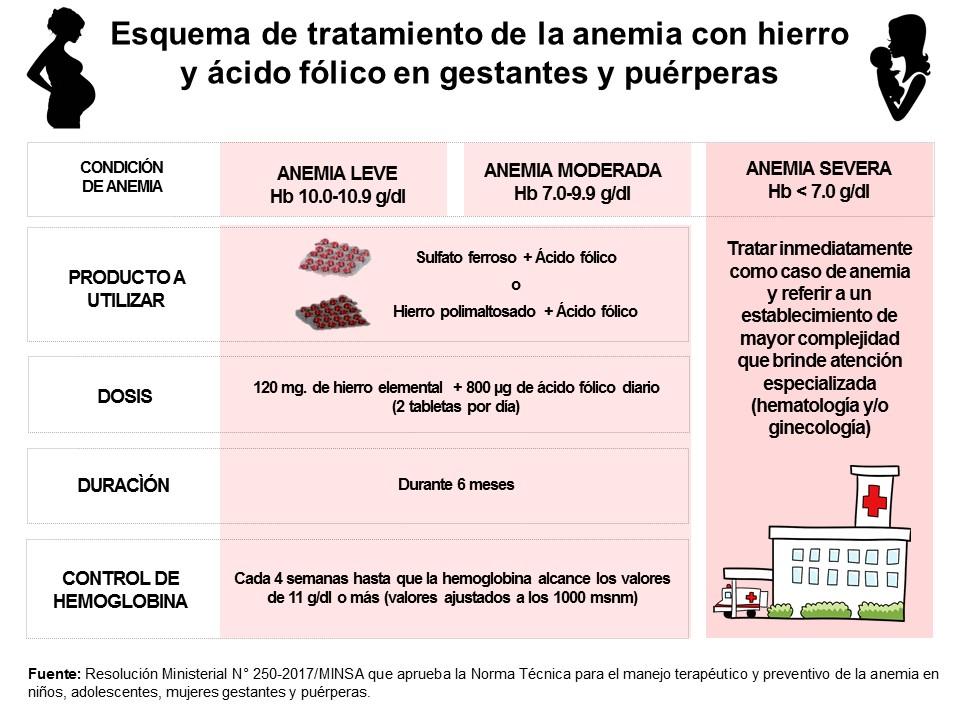 anemia leve moderada severa valores
